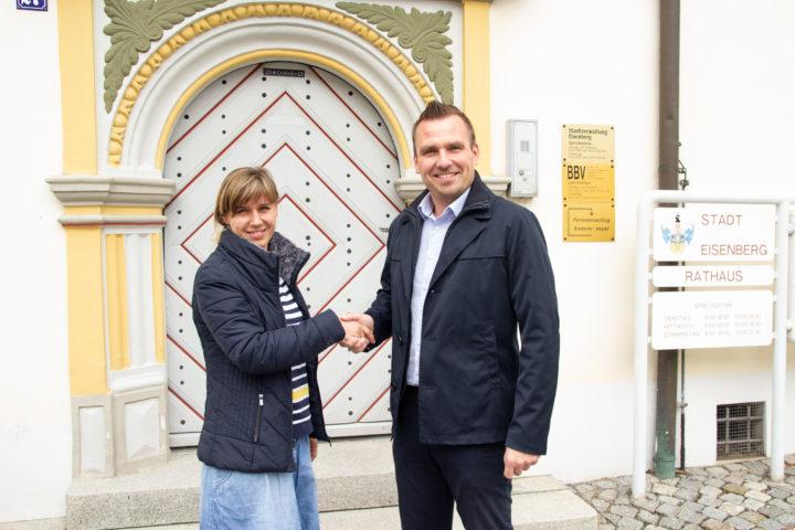Treffen mit dem Eisenberger Bürgermeister